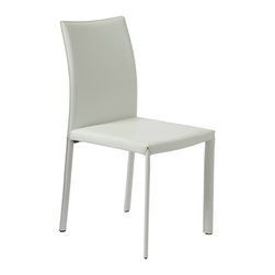 None - Venue Design Cream / White Dinning Chairs (Set of 4) - Make your dining room or breakfast nook look more modern with this set of four Venue chairs in cream and white. A solid metal frame provides reliable stability,and padded leatherette upholstery keeps you comfortable while seated.