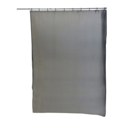 3D Acrylic 100% Laser Shower Curtain Grey - This 3D laser shower curtain for bathrooms is in acrylic (100% laser) and allows to bring in useful light inside the shower. Reinforced grommets and header along the top make it durable enough for long-lasting satisfaction (12 shower rings needed, sold separately). It will fit perfectly in your shower or bathtub. Prior to hanging, immerse curtain in a bath of warm water to help remove creases. Cleaning with soapy water only. Width 71-Inch and height 79-Inch. Color grey. This shower curtain is perfect to add a modern touch to your bathroom! Complete your decoration with other products of the same collection. Imported.