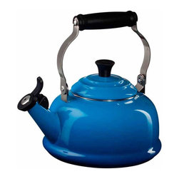 Le Creuset - Le Creuset Enamel on Steel 1.8-Quart Whistling Tea Kettle - C'est vrai! This kettle is a workaholic. Your cooktop, stove or Bunsen burner will be honored to host it. And the color choice! The French do know how to work it. Runway anyone?