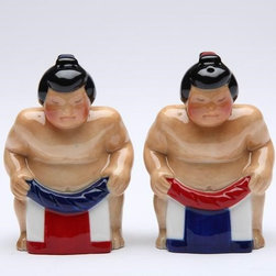 CG - Sumo Wrestlers In Matching Garb Salt and Pepper Shaker Kitchen Set - This gorgeous Sumo Wrestlers In Matching Garb Salt and Pepper Shaker Kitchen Set has the finest details and highest quality you will find anywhere! Sumo Wrestlers In Matching Garb Salt and Pepper Shaker Kitchen Set is truly remarkable.
