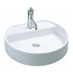KOHLER - KOHLER K-2331-1-0 Chord Wading Pool Lavatory with Single-Hole Faucet Drilling in - KOHLER K-2331-1-0 Chord Wading Pool Lavatory with Single-Hole Faucet Drilling in WhiteWith tall, thin side walls, a flat bottom and angular basin, the Chord Wading Pool lavatory features a contemporary design for the modern bath or powder room. The lavatory is constructed of vitreous china for a remarkably clean, sanitary product that maintains its polished shine, and the integral faucet deck with single-hole drilling expands your faucet options.