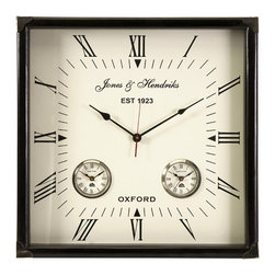 IMAX Imports - Worldtimer Wall Clock - This beautiful square wall clock will be perfect for any home or office.