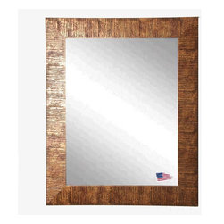 Rayne Mirrors - USA Made Sunset Bronze Wall Mirror - Create dramatic visual appeal in your space with this safari inspired framed wall mirror.  Its beautiful bronze grain texture adds interest to any space. Rayne's American Made standard of quality includes; metal reinforced frame corner  support, both vertical and horizontal hanging hardware installed and a manufacturers warranty.