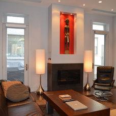 Contemporary Home Office by Abitare Design Studio, LLC