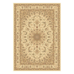 """Dynamic Rugs - Dynamic Rugs Legacy 58000-100 (Ivory) 6'7"""" x 9'6"""" Rug - Legacy is yet another superb collection with magnificent styling and priced to fit any budget. Legacy is densely Woven on wilton loom with high quality heat-set polypropylene that is anti-static with highest color fastness."""