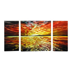 Matthew's Art Gallery - Metal Wall Art Abstract Sky Reflection - Name:
