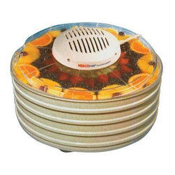 Metal Ware Corp. - Nesco 400 Watt Dehydrator - Nesco 400 Watt Four Tray Dehydrator/Speckled Trays and Clear Lid/1 spice/on/off switch