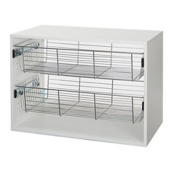 Organized Living - Organized Living freedomRail 6 in. Chrome Basket with Glide Multicolor - 7510140 - Shop for Closet from Hayneedle.com! About freedomRailBy Organized Living freedomRail is an entirely unique and almost unbelievably easy system for home organization. With a comprehensive seires of entirely interchangable rails shelves brackets drawers and more that require no tools to reposition you're never tied to your design. freedomRail features beautiful finishes and colors making it an attractive way to organize closets large and small pantries garages workstations media centers laundry rooms and nearly infinitely more. If you can dream it you can build it. And if you don't like it you can change it! That's organizational freedom.