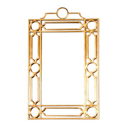 Kathy Kuo Home - Brando Hollywood Regency Gold Trellis Wall Mirror - Bring some brilliance to any space with a gold, trellis-framed, ornate mirror. With portrait orientation, the rectangular piece provides an elegant statement. Whether in the hallway, living room or bedroom, this mirror adds romance and style.