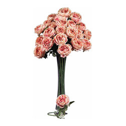 Nearly Natural - 31in. Large Rose Stem (Set of 12) - Ok, think about 'love', and what flower comes to mind? The rose, of course! Bursting with color, these roses are created to represent flowers at a peak bloom; with full, lush heads and petals that command attention (and will last forever). Complete with hunter green stems and faux thorns, these look so real your guests will be 'stopping to smell the roses' every time they come over. Sold as a set of 12.