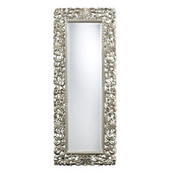 Sterling Industries - Sterling Industries Talmadge Floor Mirror X-1202MD - This Sterling Industries Talmadge floor mirror is full of beautiful leafy details. The entire frame, which features a wide and generous border, is chock-full of elegant natural leaves, curls and subtle traditional details. For added elegance, it has been finished in Antique Silver.