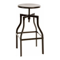 Great Deal Furniture - Izzy Black Metal Swivel Stool - The Izzy Black Metal Swivel Stool is a great addition to any dining room in your home. With its swivel and adjustable stool height and modern style, this neutral colored stool will match any color scheme while its functionality makes this piece a must have for your interior space.