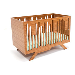 Wired Crib - This modern and durable crib captures the spirit of NYC in all its uniqueness, creating a mini metro into your nursery. It is made of highly durable NAUF (No Added Urea Formaldehyde) bamboo. The finishes are non-toxic, water-based clear finish.