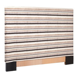 Howard Elliott - Ribbon  FQ Headboard Slipcover - Refresh the look of your slipcovered headboard simply by updating the cover! Change with the seasons, or on a whim. This piece features bold stripes of plush velvet in bold colors.