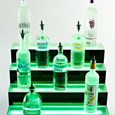Eclectic Bar Carts by Liquor Shelves by Armana Productions