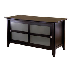 Winsome Wood - Winsome Wood Syrah TV Stand in Dark Espresso - TV Stand in Dark Espresso belongs to Syrah Collection by Winsome Wood Elegant and sleek, this TV Stand a new look to your home. Finished in a dark Espresso color. Two sliding doors. Four Sections for storage. TV Stand (1)