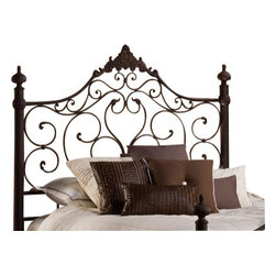 Hillsdale Furniture - Hillsdale Baremore Metal Headboard in Antique Brown - Queen No - Reminiscent of the romantic, wrought-iron classics, the Baremore Bed will add an antique ambience to any bedroom. The Baremore's weathered dark brown finish makes it a neutral fit for a variety of design aesthetics. Available in queen and king size, or just as a headboard. Matching rails included. Some assembly required.
