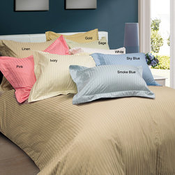None - Damask 600 Thread Count 3-piece Duvet Cover Set - Offering luxurious softness, this damask duvet cover set is available in common sizes and several popular colors to complement any decor. Made with 600-thread count cotton, this set includes a duvet cover and two matching shams.