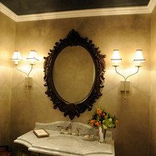 Traditional Powder Room by Susan Brunstrum of SWEET PEAS DESIGN INC