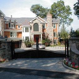 Estate Driveway Gate at Lakefront Lake Hopatcong NJ -