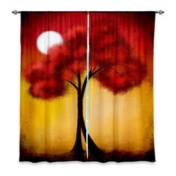 "DiaNoche Designs - Window Curtains Lined - Tara Viswanathan United We Stand - Purchasing window curtains just got easier and better! Create a designer look to any of your living spaces with our decorative and unique ""Lined Window Curtains."" Perfect for the living room, dining room or bedroom, these artistic curtains are an easy and inexpensive way to add color and style when decorating your home.  This is a woven poly material that filters outside light and creates a privacy barrier.  Each package includes two easy-to-hang, 3 inch diameter pole-pocket curtain panels.  Curtain rod sold separately. Easy care, machine wash cold, tumbles dry low, iron low if needed.  Made in USA and Imported."