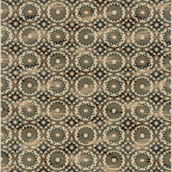 """Loloi Rugs - Loloi Rugs Vista Collection - Ivory / Blue, 2'-5"""" x 7'-7"""" - Power loomed in Egypt, the Vista Collection offers striking pattern inspired by ethnic textiles. All nine designs share a color palette of desert hues like rust, taupe, and more on a 100% polypropylene fiber for strong durability. Available in six sizes including a scatter and a runner."""