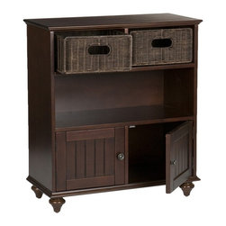Southern Enterprises - Holly & Martin MacKenzie Storage Console - This beautiful rich espresso finish storage console is a must-have addition to your home!