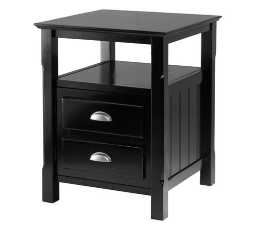 This wood shaker style nightstand with drawer is perfect for any room ...