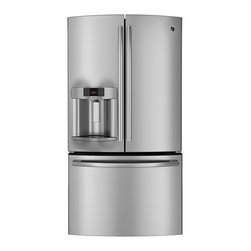 GE Profile Series ENERGY STAR 23.1 Cu. Ft. Counter-Depth French-Door Refrigerato - Features: