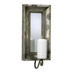 Cyan Design - Cyan Design Abelle Candle Mirror Sconce in Estruscan Slate - Abelle Candle Mirror Sconce in Estruscan Slate