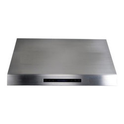 Cavaliere 36W in. Rounded Edge Under Cabinet Range Hood - You'll love the look and functionality of your Cavaliere 36W in. Rounded Edge Under Cabinet Range Hood. This powerful range hood lets you keep your cabinet space and does it in style. It mounts under existing cabinets is made of 19-gauge brushed stainless steel and has a handsome rounded edge. Inside is a quiet yet powerful 360W dual chamber motor with four speeds and a timer function. Dishwasher-safe stainless steel baffle filters make quick work of clearing the air. A touch sensitive keypad with LED blue lights and two halogen lights double its ease. A heat sensitive auto speed function controls the fan speed automatically so you don't have to. Additional Information: 4 speed levels with timer function Touch sensitive LCD keypad with blue lighting Dishwasher-safe stainless steel baffle filters Airflow: 1000 CFM Two 35-watt halogen lights Heat sensitive auto speed function controls speed automatically About CavaliereCavaliere offers a complete stainless steel range hood collection. They blend superior components with the latest technologies to create range hoods that cater to your needs. Cavaliere has a special understanding of the kitchen environment ergonomics aesthetics and integration within your home or workplace. They specialize in wall-mounted island or under cabinet range hoods that make a statement in your kitchen.
