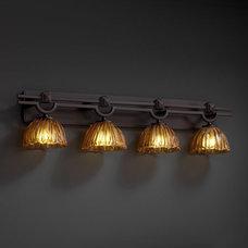 Justice Design Veneto Luce Argyle 4-Light Bath Bar in Dark Bronze GLA-8504-36-AM