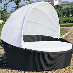 "Tropea Outdoor Bed Lounger - A little over the top, maybe. But I call this the, ""your own personal cabana"" seat. All you need is someone to serve you a frozen drink and you are good as gold. Relaxation should be over the top."