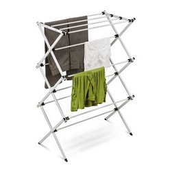 Honey Can Do DRY-01306 Deluxe Collapsible Metal Drying Rack - It is what it is but you'll be pleased with the quality and style of this Honey-Can-Do DRY-01306 Deluxe Collapsible Metal Drying Rack. Compact sleek and lightweight this little rack fits neatly in your laundry room or any corner. It folds up flat so it's great for traveling as well. It provides 24 feet of drying space. Rack up the points for green simple living.About Honey-Can-DoHeadquartered in Chicago Honey-Can-Do is dedicated to helping you organize your life. They understand that you need storage solutions that are stylish and affordable at the same time. Honey-Can-Do focuses on current design trends and colors to create products that fit your decor tastes while simultaneously concentrating on exceptional quality. When buying a Honey-Can-Do product you can be sure you are purchasing a piece that has met safety control standards and social compliance methods.