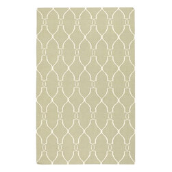 Jill Rosenwald - Jill Rosenwald Fallon Transitional Hand Woven Wool Rug X-118-4001LAF - From delicate lattice patterns to boldly colored chevron patterns the Fallon Collection makes a statement in flat weave: from creator Jill Rosenwald known for her beautifully colored, hand-made ceramics. The Fallon Collection's patterns and the hand woven flat weave construction beautifully combine to highlight its simplicity and sophistication. Fresh and fun patterned rugs with a strong designer color palettes.