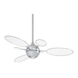 Minka Aire Fans - Cirque Ceiling Fan with Light by Minka Aire Fans - Mid-century design for the modern home. Featuring oval and circle blades with two different blade diameters, the Minka Aire Cirque Fan with Light moves an impressive amount of air with its funky design. The motor is silent and operates via a wall control that offers 3 forward/reverse fan speeds and independent light dimming.The Minka Group, located in Corona, CA, offers a variety of products, including Minka Aire fans, Minka Lavery lighting, and George Kovacs fans and lighting.The Minka Aire Cirque Ceiling Fan with Light is available with the following:Details:Integrated downlightIncludes cap for non-light use6 various sized bladesIncludes WC212 remote3 forward/reverse fan speedsOn/off plus full range light dimmerRemote operates up to 40' from fanCompatible with handheld RC212 (see Related Products)