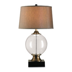 Currey & Co - Currey & Co 6981 Motif Blown Glass Table Lamp - 1 Bulb, Bulb Type: 150 Watt Edison; Weight: 10lbs