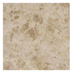 "Emperador Light Polished Marble Floor & Wall Tiles  12"" x 12"" - 12"" x 12"" Emperador Light Marble Floor and Wall Tile is a great way to enhance your decor with a traditional aesthetic touch. This polished tile is constructed from durable, impervious marble material, comes in a smooth, unglazed finish and is suitable for installation on floors, walls and countertops in commercial and residential spaces such as bathrooms and kitchens."