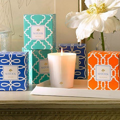 mediterranean candles and candle holders by Gracious Home
