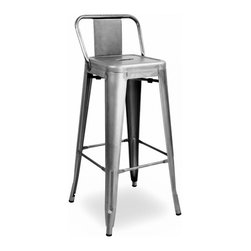 Design Lab Mn Amalfi Clear Gunmetal Steel Low Back