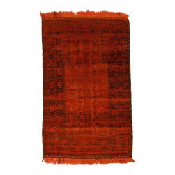 West of Hudson - Overdyed Vintage Tribal Burnt Orange Rug, 2.58x4.16 Ft. - Handknotted one of a kind over-dyed rug with vibrant colors. West of Hudson is proud to offer authentic vintage and new hand knotted rugs that that are carefully selected for our exclusive overdye collection. Each rug is a unique work of art. 100% handmade from start to finish.