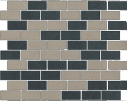 The Standard Collection Taupe Gray and Dark Gray Mix 1x2 Mosaic -