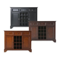 Crosley - Crosley LaFayette Buffet Server/Sideboard Cabinet - Crosley LaFayette Buffet Server/Sideboard Cabinet is constructed of solid hardwood and wood veneers. This Buffet Server / Sideboard Cabinet is designed for longevity.