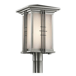 Joshua Marshal - One Light Stainless Steel Post Light - One Light Stainless Steel Post Light
