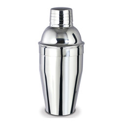 Cuisinox - Cuisinox Cocktail Shaker 17 oz. - Amaze your friends with your barman talents as you brew your favorite cocktails and drinks using this mirror finish stainless steel cocktail shaker. It's great for that martini  in. Shaken not Stirred, in.  and are amazing for mixing homemade salad dressings.