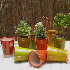 Eclectic Outdoor Planters by Potted