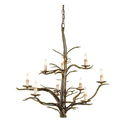 Treetop Chandelier - This chandelier, inspired by treetops, is both classic and tongue-in-cheek. Personally, I love decor that doesn't take itself too seriously, and I think this will be a great fit for a living room.
