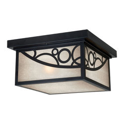 Vaxcel - Prosecco Noble Bronze Outdoor Flush Mount - Vaxcel PO-OFU110NB Prosecco Noble Bronze Outdoor Flush Mount