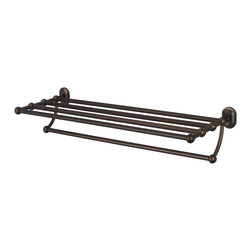 Water Creation Inc. - Multi-Purpose Bath Train Rack For Classic Bathroom, Oil Rubbed Bronze Finish - Transform your bathroom's decor to the elegance of yesteryear with Water Creation's line of coordinating vintage bathroom accessories. Constructed of solid brass, Water Creation's towel racks, towel bars, towel rings, toilet paper holders, robe hooks, and shower caddies were all designed with durability in mind. All accessories are offered in triple plated chrome, brushed nickel, polished nickel, and oil rubbed bronze finishes to accommodate your particular motif.