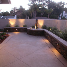 Mediterranean Landscape by Promised Path Landscaping Inc